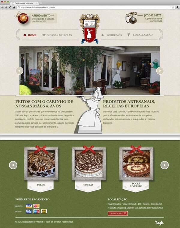 Site exclusivo criado pela Yogh: Delicatesse Viktoria