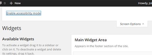 Widgets no WordPress - Como adicionar Widgets modo acessbilidade