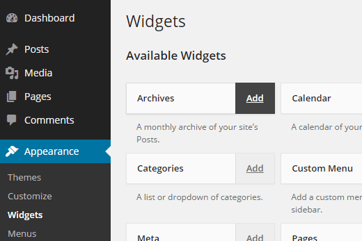 Widgets no WordPress - Como adicionar widget no modo acessibilidade parte 2